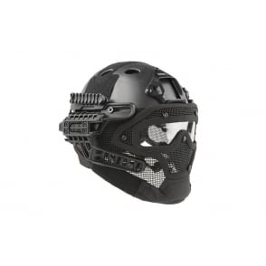 Fast Helmet with Strike Wire Mask Set - Black