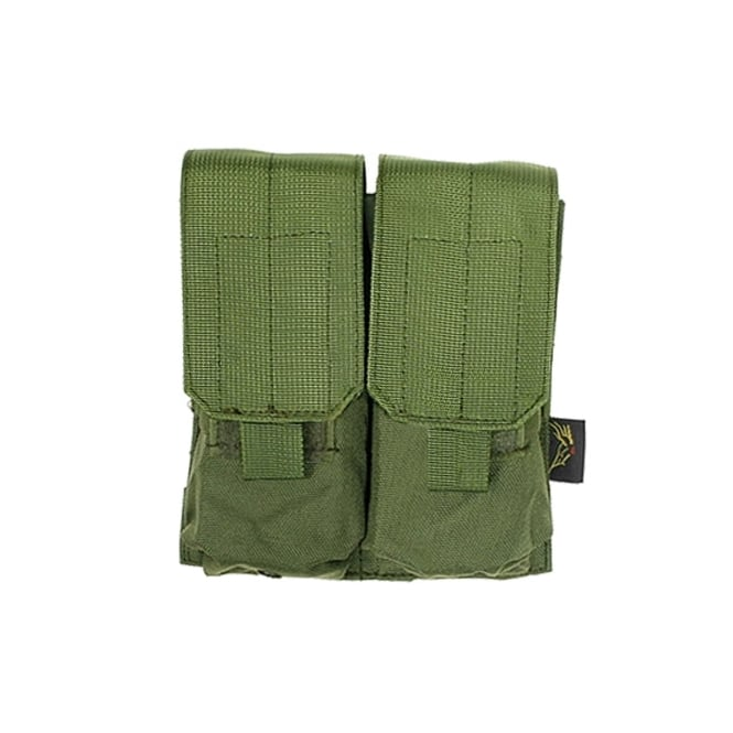 Flyye MOLLE Double M4/M16 Magazine Pouch Ranger Green