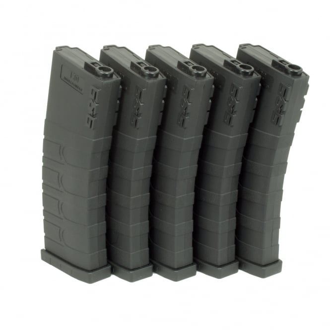 G&G Airsoft G&G 120 Mid Capacity Magazine Box of 5 (Black) GR16 / M4 with 420 Round Speed Loader