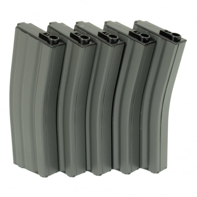 G&G Airsoft G&G 450 Round Magazine Box of 5 (Grey)