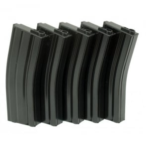 G&G 79 Round Magazine Box of 5 (Black) for GR16 / M4 with 420 Round Speed Loader