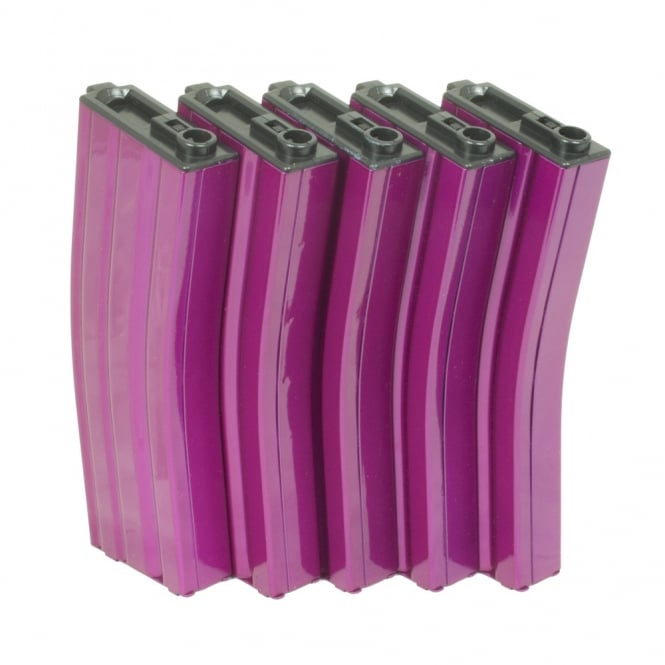 G&G Airsoft G&G 79 Round Magazine Box of 5 (Pink) for GR16 / M4