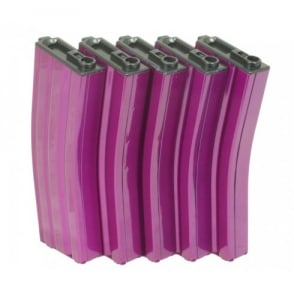 G&G 79 Round Magazine Box of 5 (Pink) for GR16 / M4 with 420 Round Speed Loader