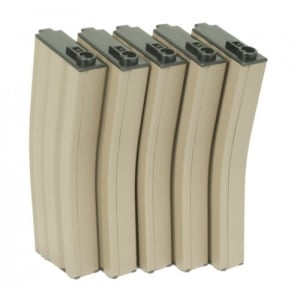 G&G 79 Round Magazine Box of 5 (Tan) for GR16 / M4 with 420 Round Speed Loader