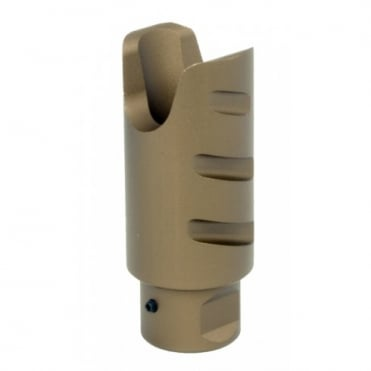 G&G Amplifier Flash Hider Desert Tan 14mm CCW