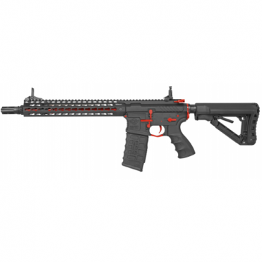 G&G Combat Machine CM16 SRXL AEG Airsoft Gun (Red) - Limited Edition