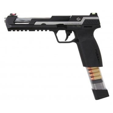 G&G Airsoft Piranha SL Gas Blowback Pistol - Silver