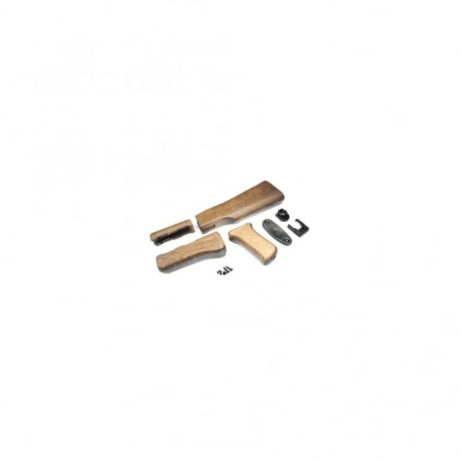 G&G Airsoft AK 47 Wood Stock Set For G&G AK Series