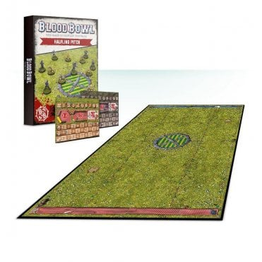 Games Workshop Blood Bowl : Halfling Team Pitch & Dugouts