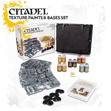 Games Workshop Citadel Texture Paints & Base Set inc Case