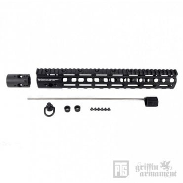 "Griffin Low Pro Rigid M-LOK Rail 13.5"" - Black"