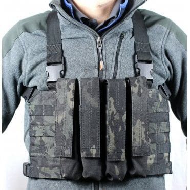 Head On Tactical 4 Mag Vector Chest Rig - Multicam Black