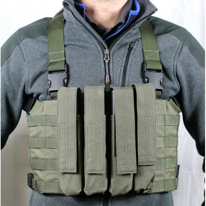 Head On Tactical 4 Mag Vector Chest Rig - Ranger Green