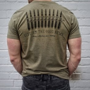 Heavy Machine Gun Clothing Give 'Em The Good News Slim Fit T-Shirt - Khaki