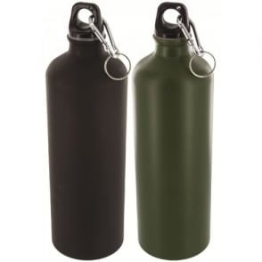 Highlander Outdoor 1 Litre Aluminium Bottle Black