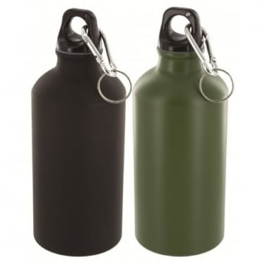Highlander Outdoor 500ml Aluminium Bottle Olive