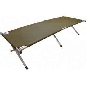 Highlander Outdoor Aluminium Camp Bed - Green