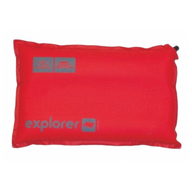 Highlander Outdoor Explorer Self Inflate Pillow - Red/Grey