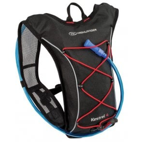 Highlander Outdoor Kestrel 4 Hydration Pack - Black/Red