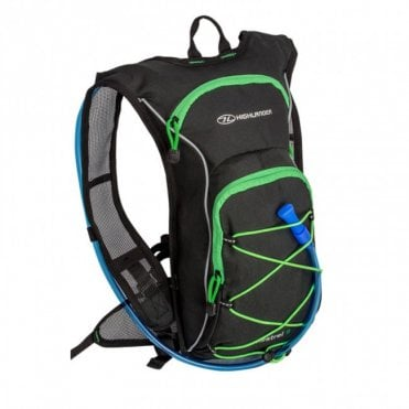 Highlander Outdoor Kestrel 9 Hydration Pack - Black/Green