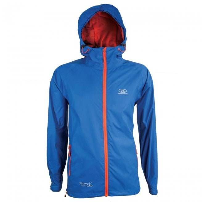 Highlander Outdoor Stow and Go Packaway Jacket - Blue
