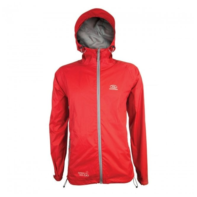 Highlander Outdoor Stow and Go Packaway Jacket - Red