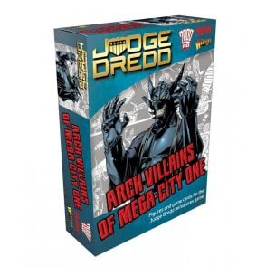 Judge Dredd Game - Arch Villains of Mega-Prime City Figures & Game Cards