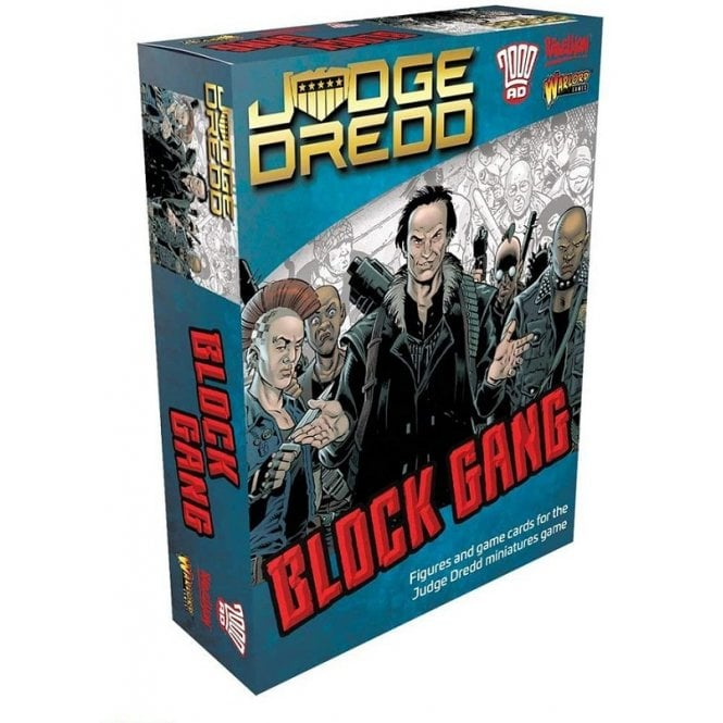 Warlord Games Judge Dredd Game - Block Gang Figures & Game Cards