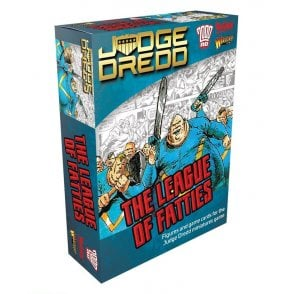 Judge Dredd Game - The League of Fatties Figures & Game Cards