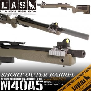 Laylax LAS Short Outer Barrel for Tokyo Marui M40A5