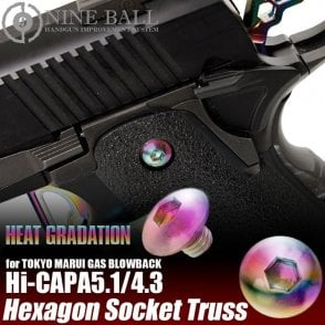 Laylax Nine Ball Heat Graduation Custom Grip screws for Hi-Capa 4.3/5.1