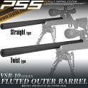Laylax PSS Fluted Outer Barrel for VSR-10 Series - Straight Type