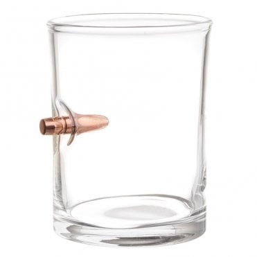 Lucky Shot .308 Real Bullet Handmade Whisky Glass