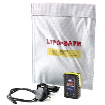 LWA B3 Lipo Charger & Lipo Charging Bag Set