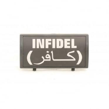 Custom Rail Panel Infidel with Arabic - Black