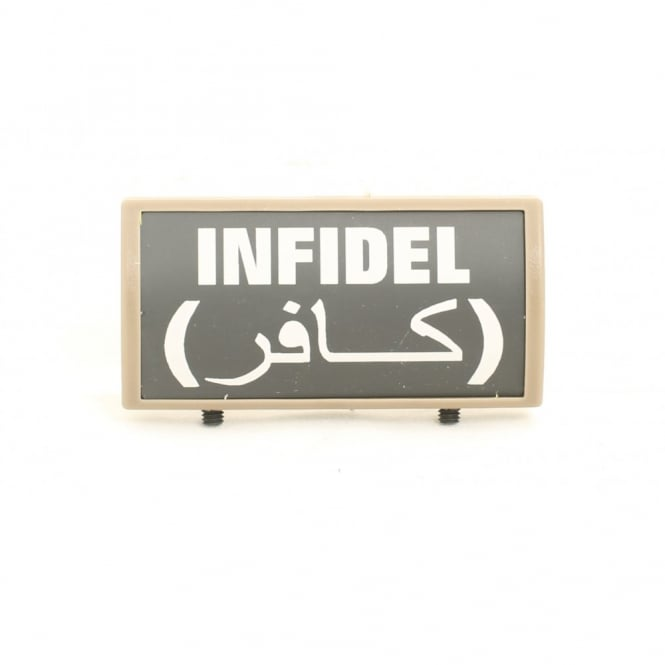 LWA Custom Rail Panel Infidel with Arabic - Dark Earth