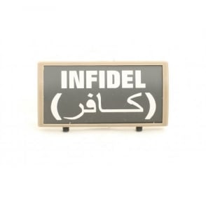 Custom Rail Panel Infidel with Arabic - Dark Earth