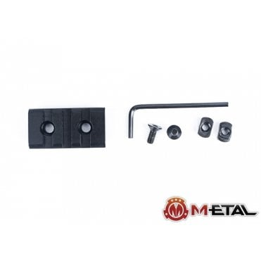 M-etal 3-Slot M-LOK Aluminium Rail Section