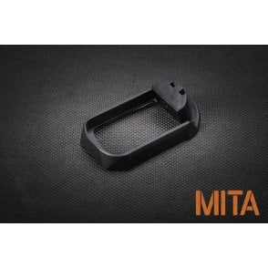 M.I.T. Airsoft CNC Aluminium Magwell for Glock - Black Type A