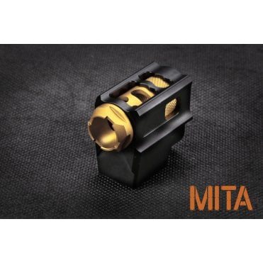M.I.T. Airsoft T-Style Comp 14mm CCW - Black/Gold