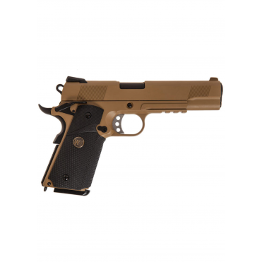 MEU SOC.45 TAN Full Metal Gas Airsoft Blowback