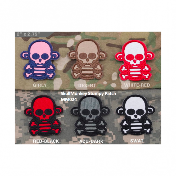 Mil-Spec Monkey MSM SkullMonkey Stumpy Patch - Desert