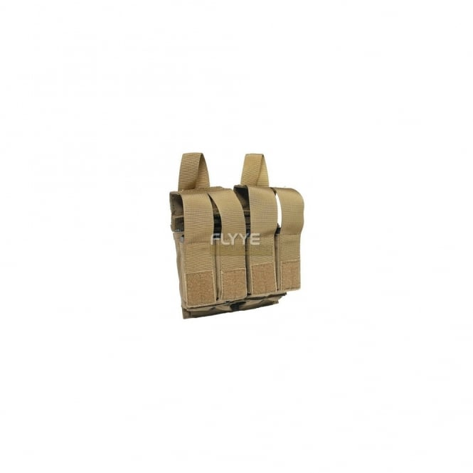 Flyye MOLLE Double M4 + Quad Pistol Mag Pouch