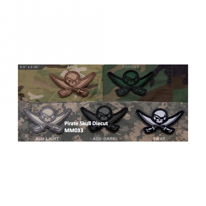 Mil-Spec Monkey MSM Pirate Skull Diecut - Desert