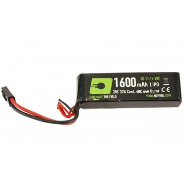 Nuprol 11.1v 1600mah Flat Stick LiPo Battery