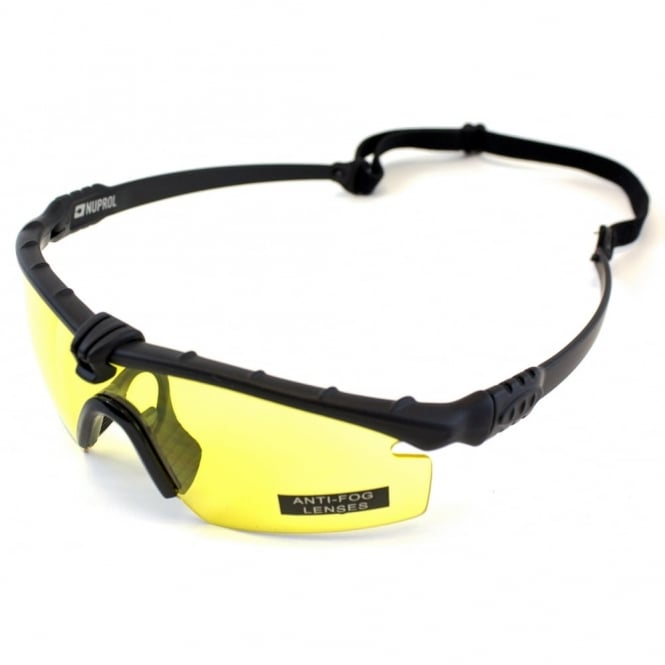 Nuprol Battle Pro's - Black Frame / Yellow Lense