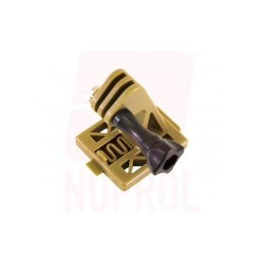 Nuprol Go Pro Action Camera Helmet Mount - Tan