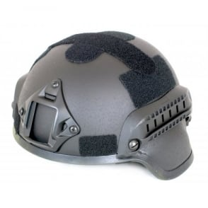 Nuprol MICH 2000 Railed Helmet - Black