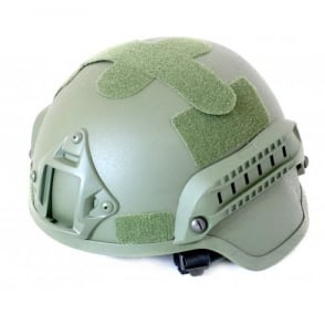 Nuprol MICH 2000 Railed Helmet - Green
