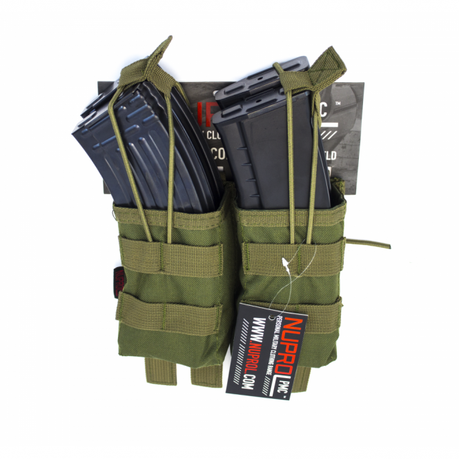 Nuprol PMC AK Double Open Mag Pouch - Green